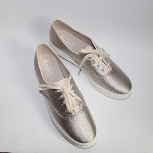 0e72ad0adc3ed Keds Shoes - Keds Champagne Triple Lurex Shimmer Sneakers 8.5
